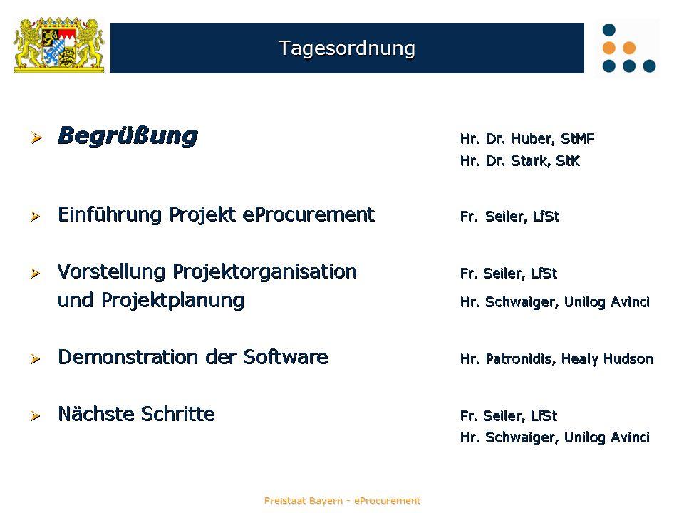 Die Softwarelösung des Freistaats Bayern -Überblick- Katalogbeschaffung / -management Katalogbeschaffung / -management elektronische Vergabe elektronische Vergabe