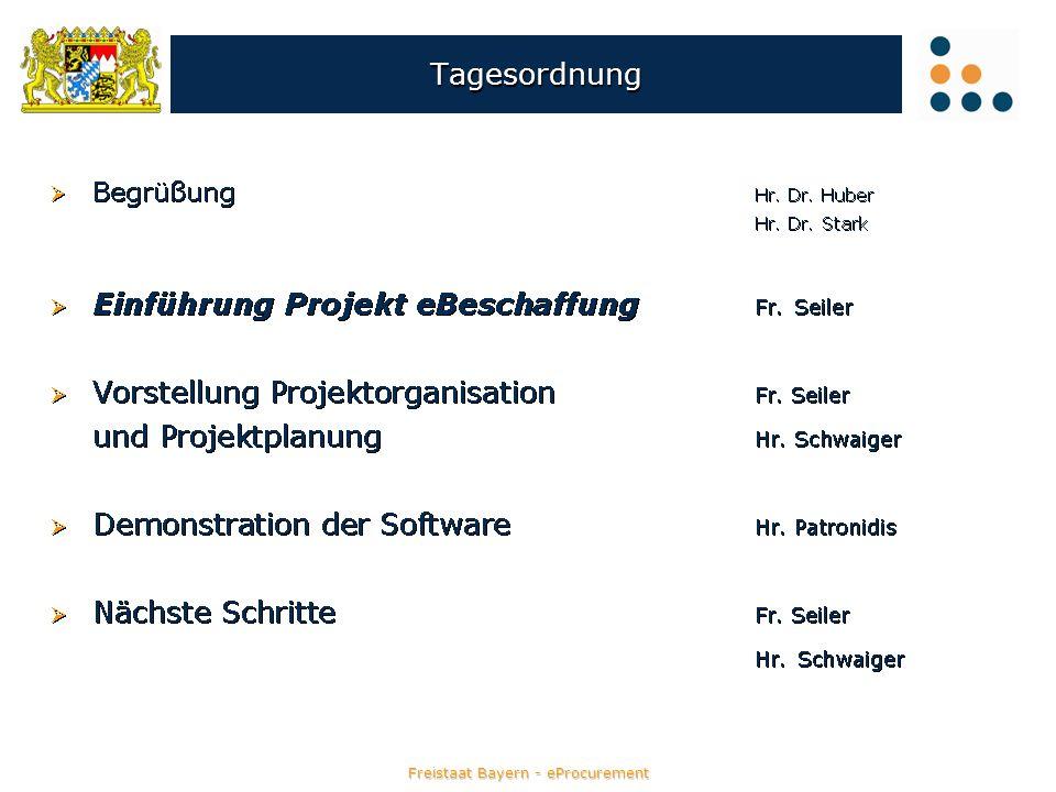 Freistaat Bayern - eProcurement eVergabe - Preisspiegel