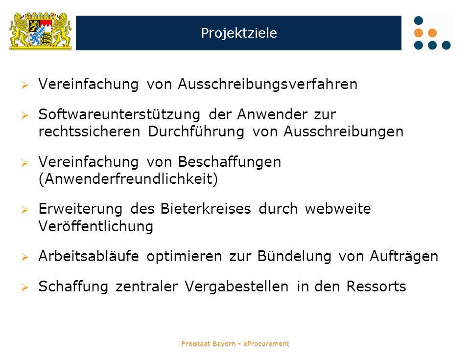 Freistaat Bayern - eProcurement Ausschreibung anlegen im Modul eVergabe