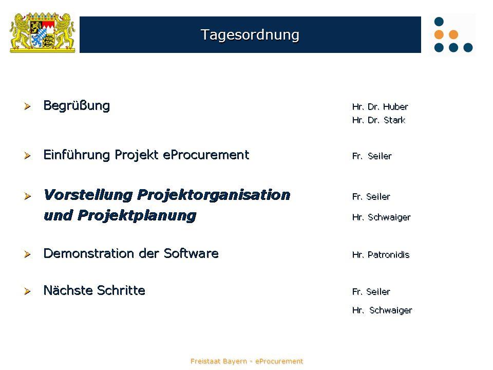 Freistaat Bayern - eProcurement eVergabe – Fristenplaner