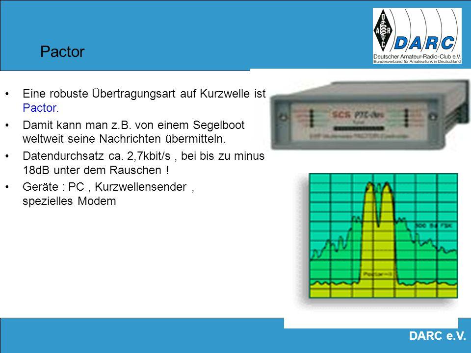 DARC e.V. Packet Radio Eine Verbindung z.B. von Nord- nach Süddeutschland wird über mehrere Stationen geleitet.