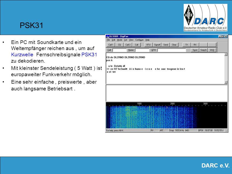DARC e.V. Soundkarte im Amateurfunk Die Soundkarte ist Modulator und Demodulator zugleich. Sie hilft uns, alle Arten von Audiosignalen zu analysieren.