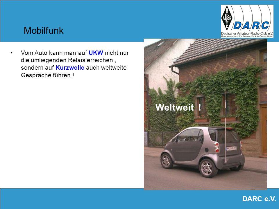 DARC e.V. SSTV Ein einfacher Weltempfänger und Software reichen aus, um Bilder zu empfangen ! Dies nennt sich SLOW SCAN TV Ein Bild benötigt ca. 8 sec