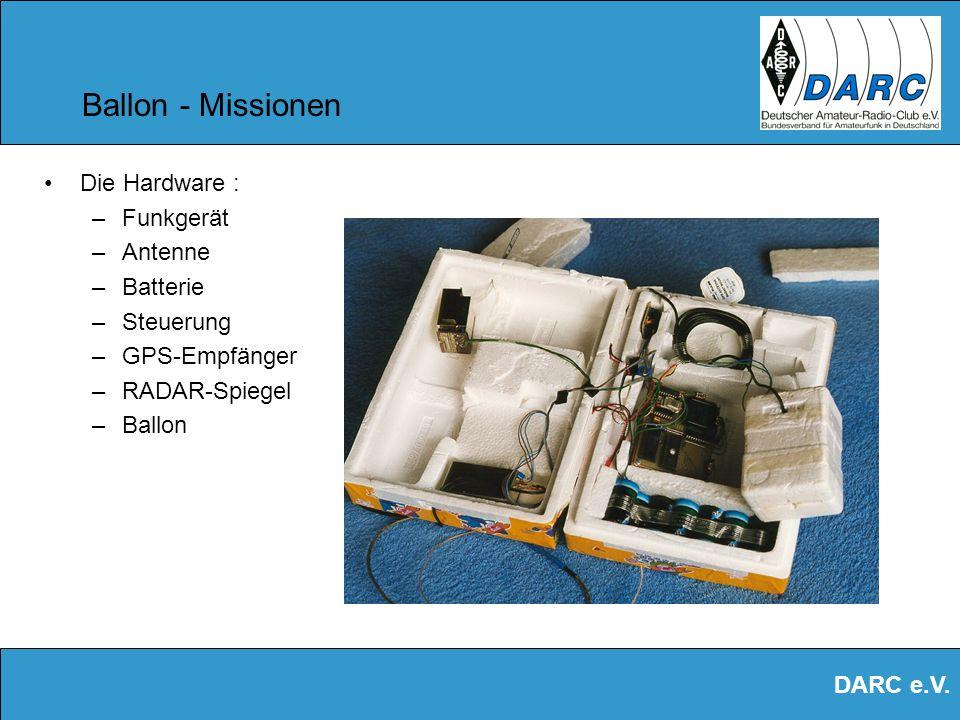 DARC e.V. Ballon - Missionen Temperatur- Messung X = Zeit Y = Temperatur