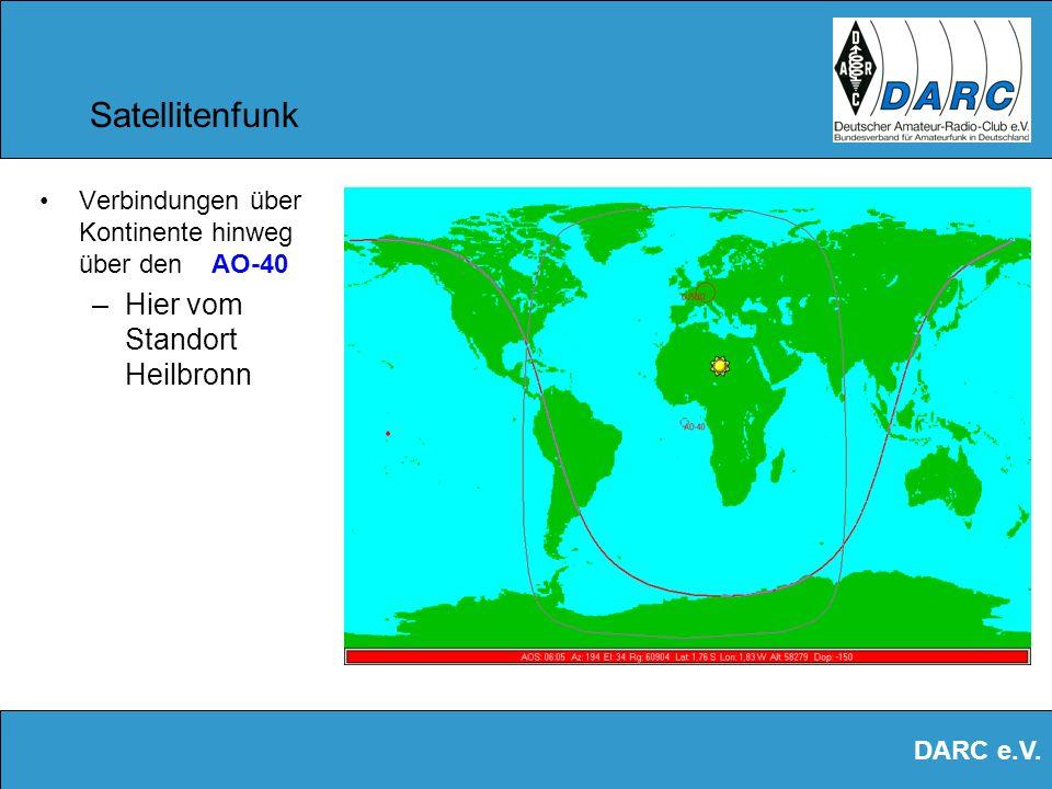 DARC e.V. Satellitenfunk Über den AO-40 kann man stundenlang funken !