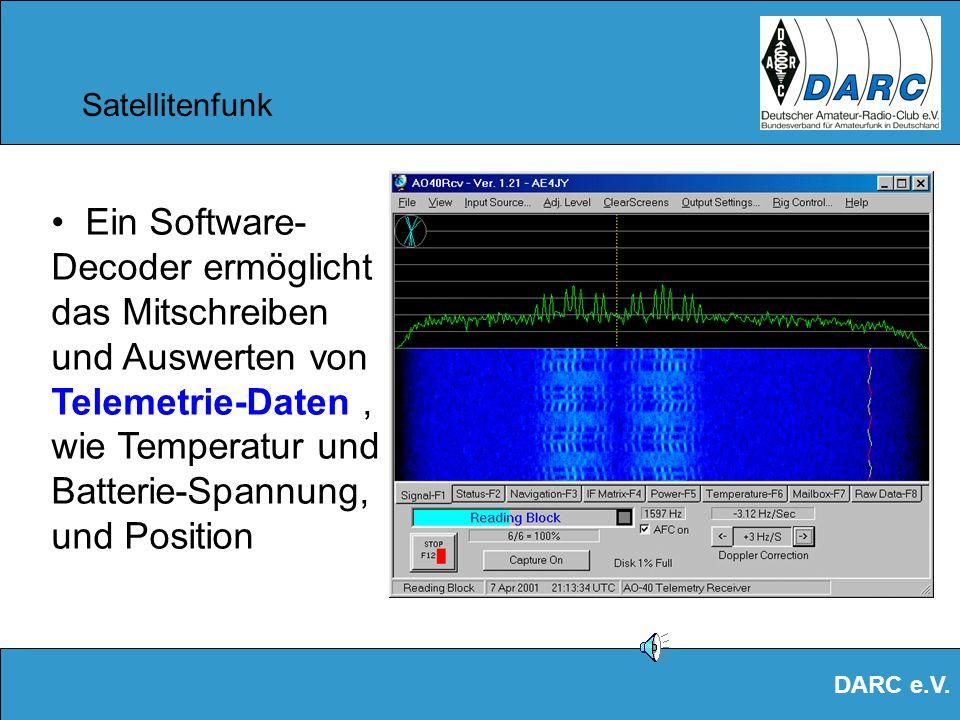 DARC e.V. Satellitenfunk Verbindungen über Kontinente hinweg über den AO-40 –Hier vom Standort Heilbronn