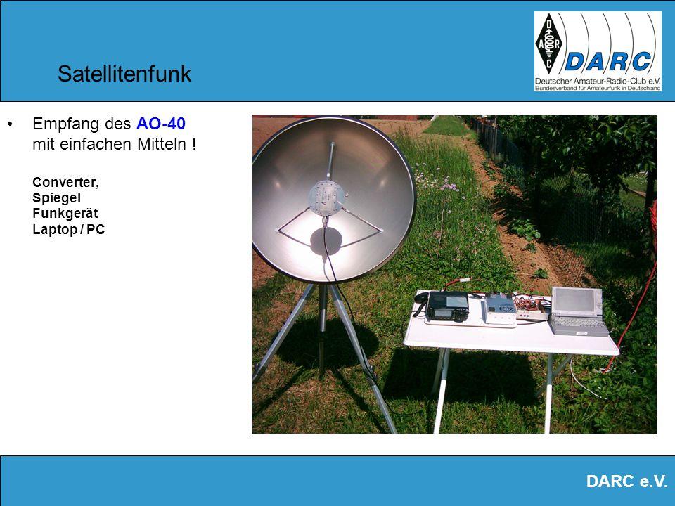 DARC e.V. Satellitenfunk Ein Software- Decoder ermöglicht das Mitschreiben und Auswerten von Telemetrie-Daten, wie Temperatur und Batterie-Spannung, u