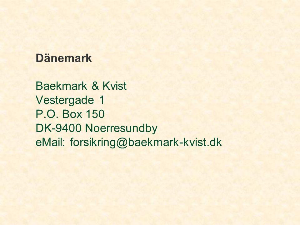 Dänemark Baekmark & Kvist Vestergade 1 P.O.
