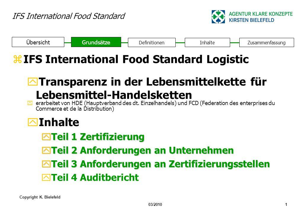 IFS International Food Standard Copyright K.