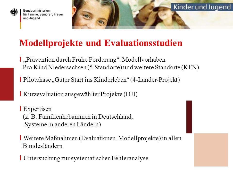 Modellprojekte und Evaluationsstudien I Kurzevaluation ausgewählter Projekte (DJI) I Prävention durch Frühe Förderung: Modellvorhaben Pro Kind Nieders