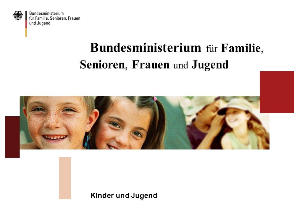 Bundesministerium für Familie, Senioren, Frauen und Jugend Kinder und Jugend