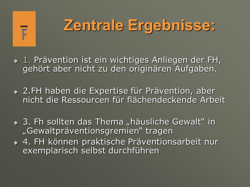 Forderungen der Frauenhäuser: Zuständigkeit für Präventionsarbeit außerhalb des FH, z.B.