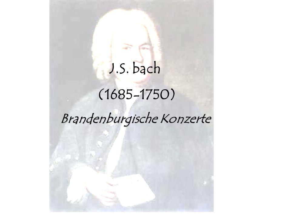 Niko Lamprecht 2008 J.S. bach (1685-1750) Brandenburgische Konzerte