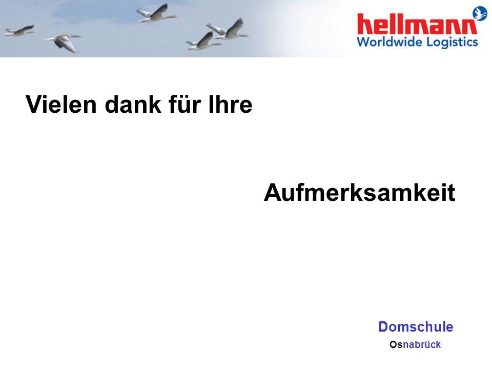 Vielen dank für Ihre Aufmerksamkeit Domschule yhg Osnabrück