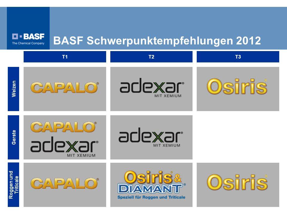 BASF Schwerpunktempfehlungen 2012 Weizen Gerste Roggen und Triticale T1T2T3