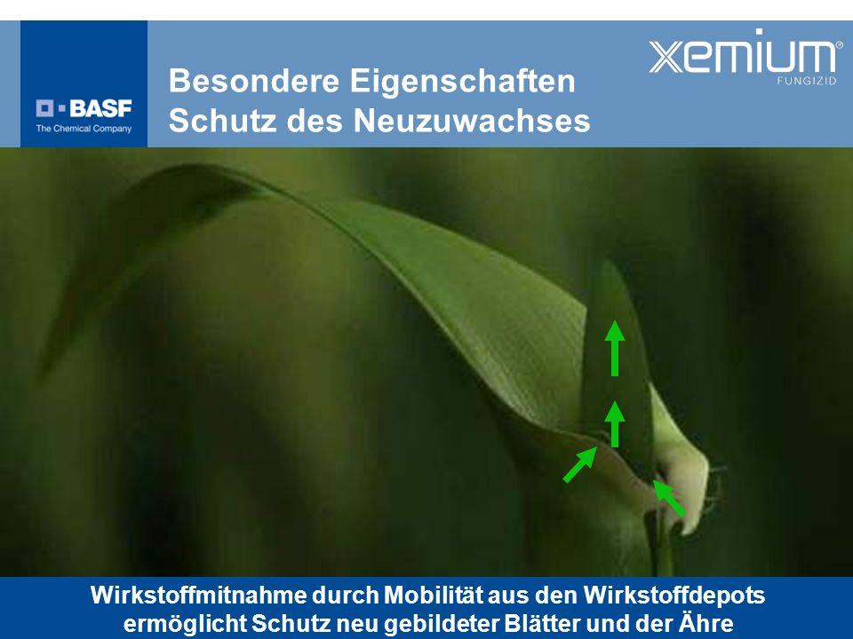 Besondere Eigenschaften Schutz des Neuzuwachses Wirkstoffmitnahme durch Mobilität aus den Wirkstoffdepots ermöglicht Schutz neu gebildeter Blätter und