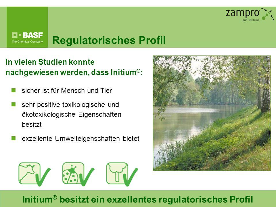 10 Regulatorisches Profil In vielen Studien konnte nachgewiesen werden, dass Initium ® : sicher ist für Mensch und Tier sehr positive toxikologische u