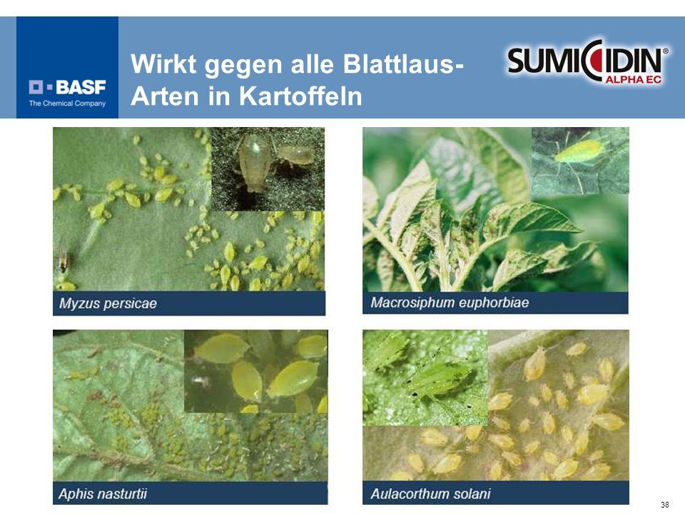 38 Wirkt gegen alle Blattlaus- Arten in Kartoffeln