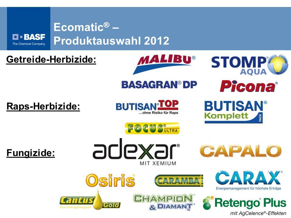 Ecomatic ® – Produktauswahl 2012 Raps-Herbizide: Fungizide: Getreide-Herbizide: