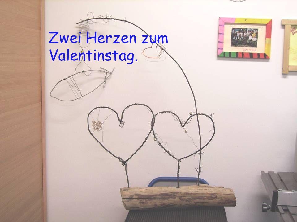 Zwei Herzen zum Valentinstag.