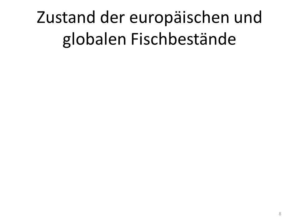 Zustand der europäischen Fischbestände 9 Landings from ICES 2010, MSY from Froese and Proelß 2010