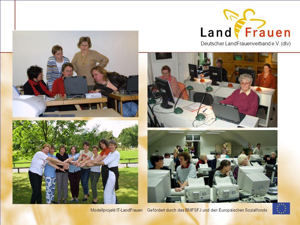 Deutscher LandFrauenverband e.V. (dlv) Modellprojekt IT-LandFrauen Gefördert durch das BMFSFJ und den Europäischen Sozialfonds