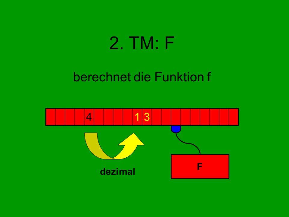 2. TM: F berechnet die Funktion f 413 F dezimal