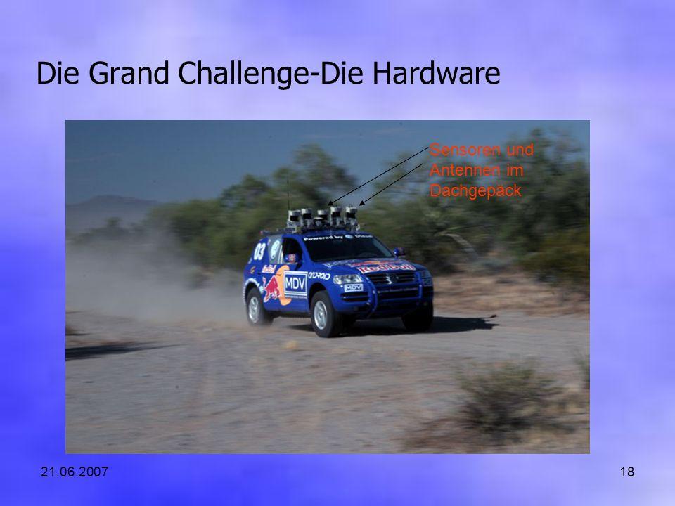 21.06.200718 Die Grand Challenge-Die Hardware Sensoren und Antennen im Dachgepäck