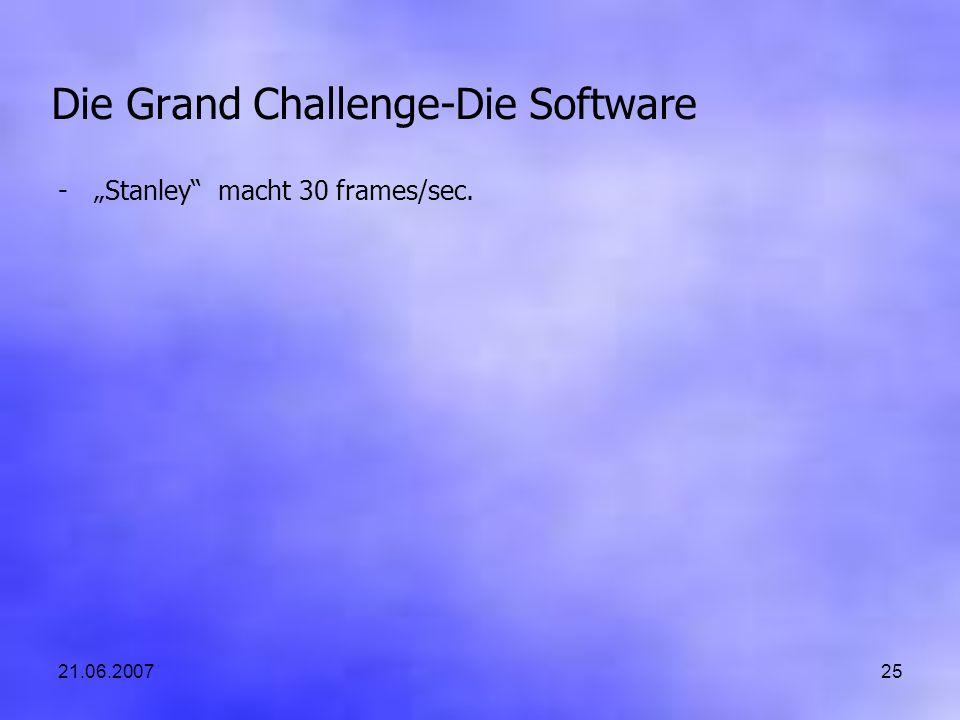 21.06.200725 Die Grand Challenge-Die Software -Stanley macht 30 frames/sec.
