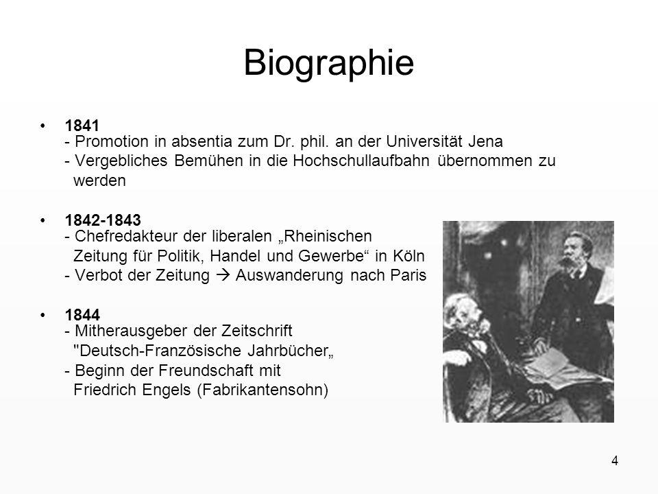 4 Biographie 1841 - Promotion in absentia zum Dr. phil. an der Universität Jena - Vergebliches Bemühen in die Hochschullaufbahn übernommen zu werden 1