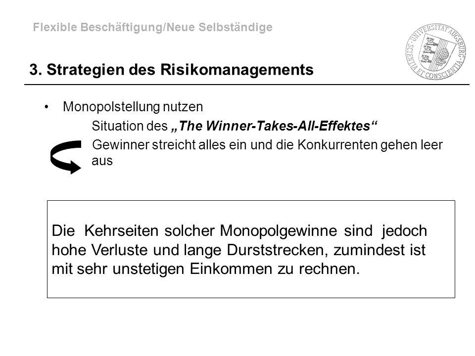 Monopolstellung nutzen Situation des The Winner-Takes-All-Effektes Gewinner streicht alles ein und die Konkurrenten gehen leer aus 3. Strategien des R