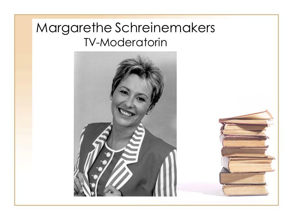 Margarethe Schreinemakers TV-Moderatorin