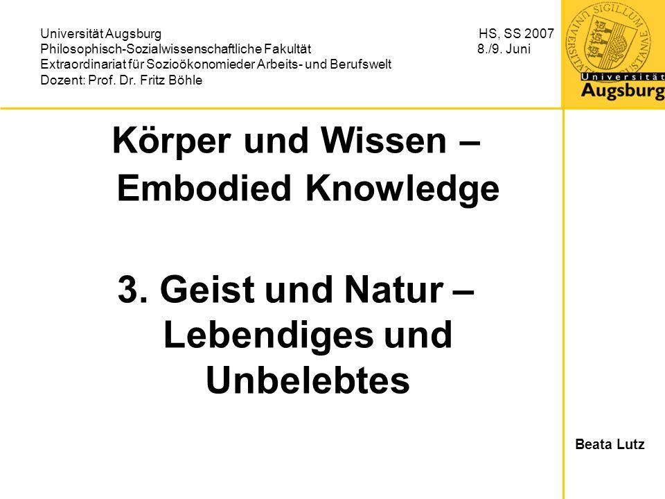 Körper und Wissen – Embodied Knowledge 3.