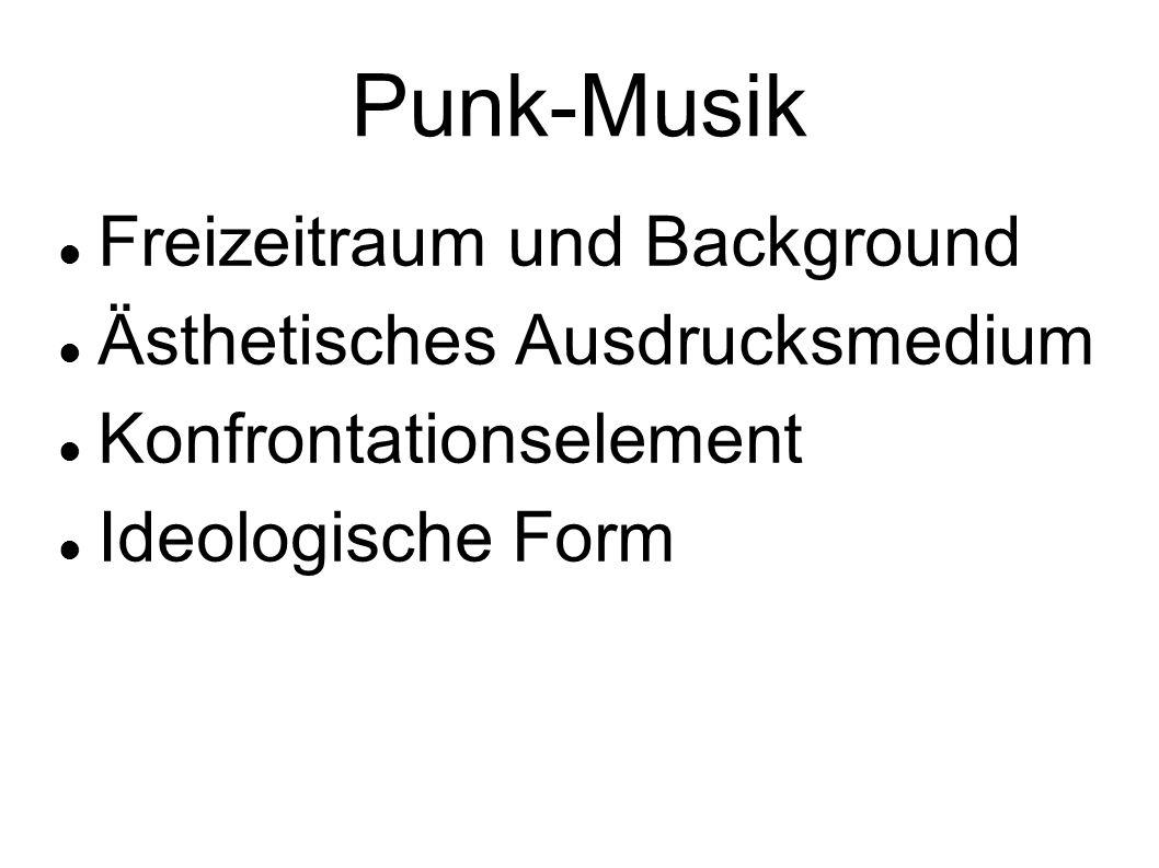 Punk-Musik Freizeitraum und Background Ästhetisches Ausdrucksmedium Konfrontationselement Ideologische Form