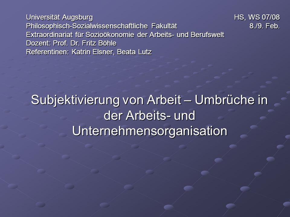 Universität Augsburg HS, WS 07/08 Philosophisch-Sozialwissenschaftliche Fakultät 8./9.