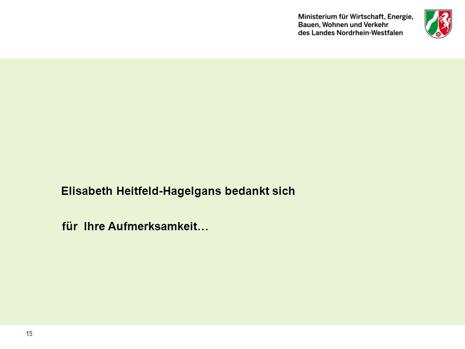 Elisabeth Heitfeld-Hagelgans bedankt sich für Ihre Aufmerksamkeit… 15