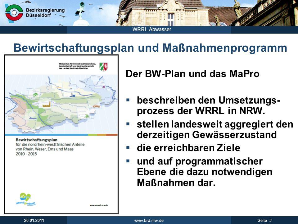 www.brd.nrw.de 14Seite 20.01.2011 WRRL-Abwasser 13 regionale Kooperationen