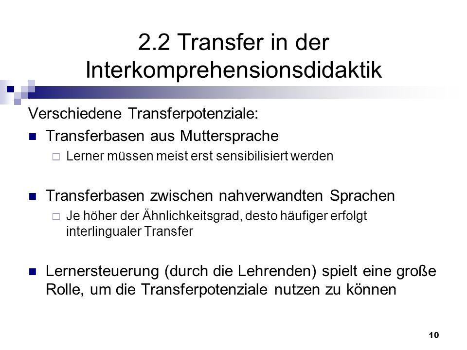 11 Transfervektoren Transfervektoren / -richtungen: innerhalb des zielsprachlichen Systems innerhalb des ausgangssprachlichen Systems zwischen Ausgangssprache(n) und Zielsprache von Lernerfahrungen mit und zwischen unterschiedlichen Sprachen
