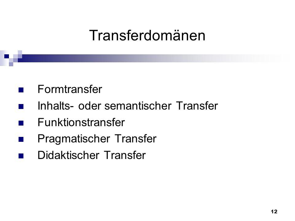 13 Transferdomänen Formtransfer: Intra- und interphonologische Regularitäten und Unterschiede Intra- und intergraphemische Regularitäten und Unterschiede Interphonetische und interphonologische Merkmale