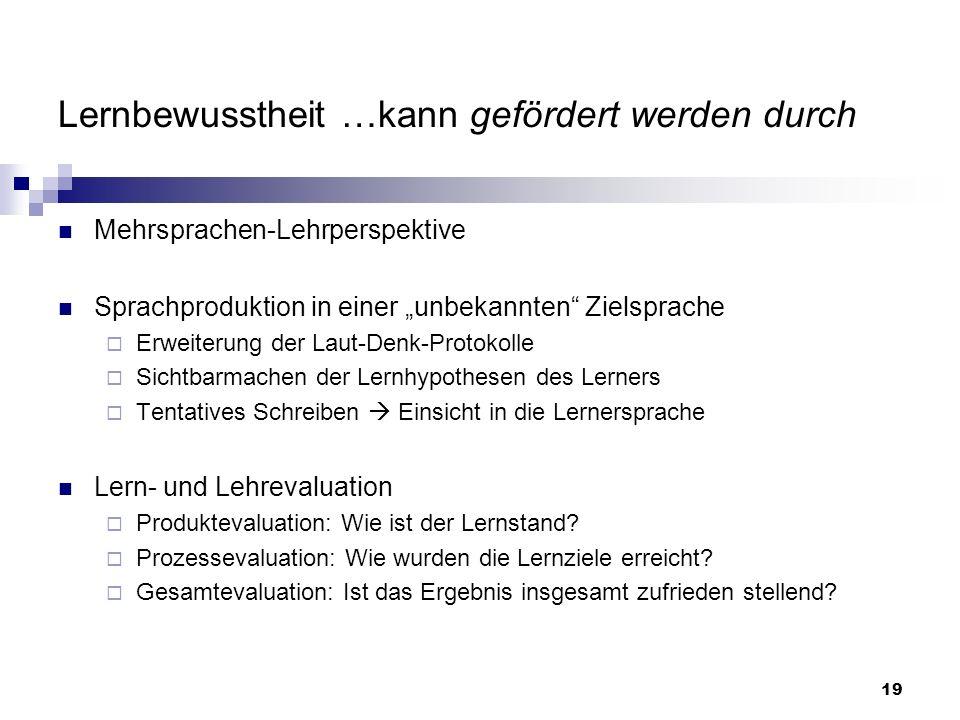20 3.Methodische Anleitungen Lenkung der Informationsverarbeitung, z.B.
