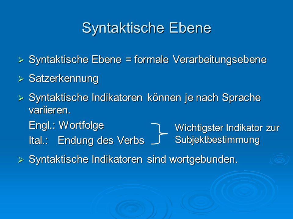 Syntaktische Ebene Beispielsätze Deutsch-Französisch Ich gebe Stephan ein Buch.