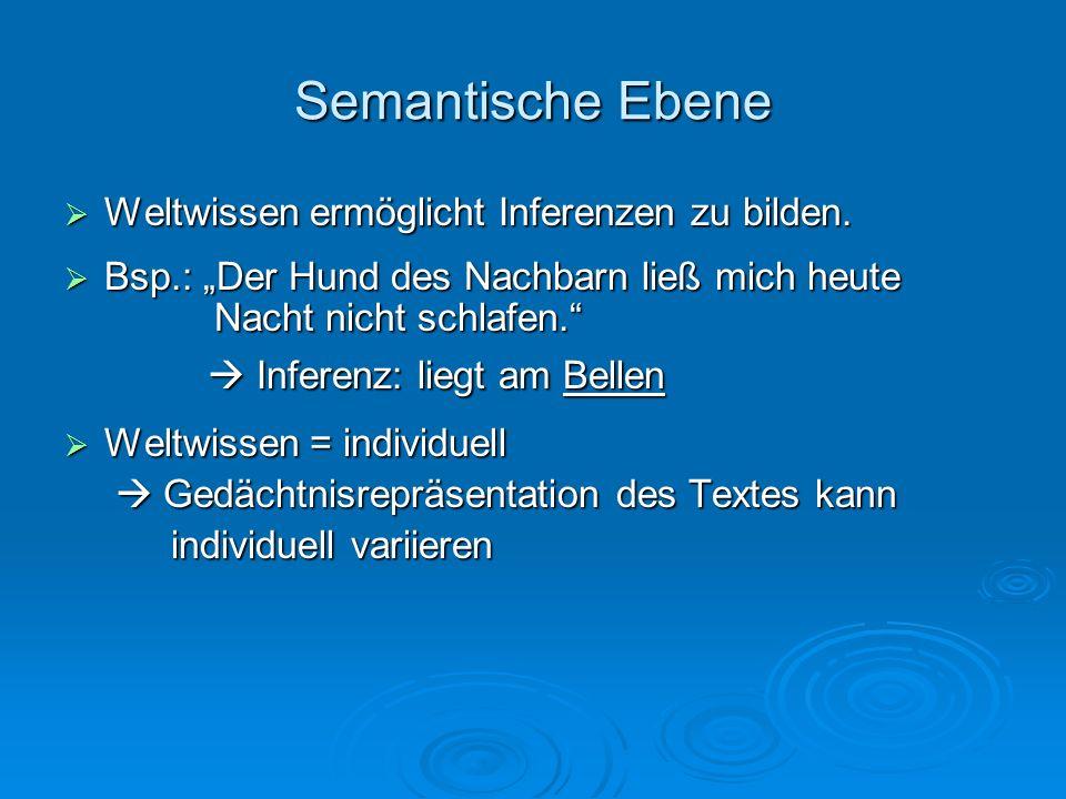 Semantische Ebene Bsp.