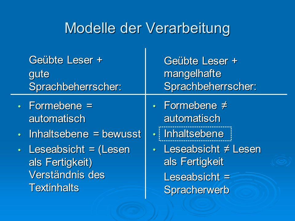 2 Modelle der automatischen Verarbeitung 1.