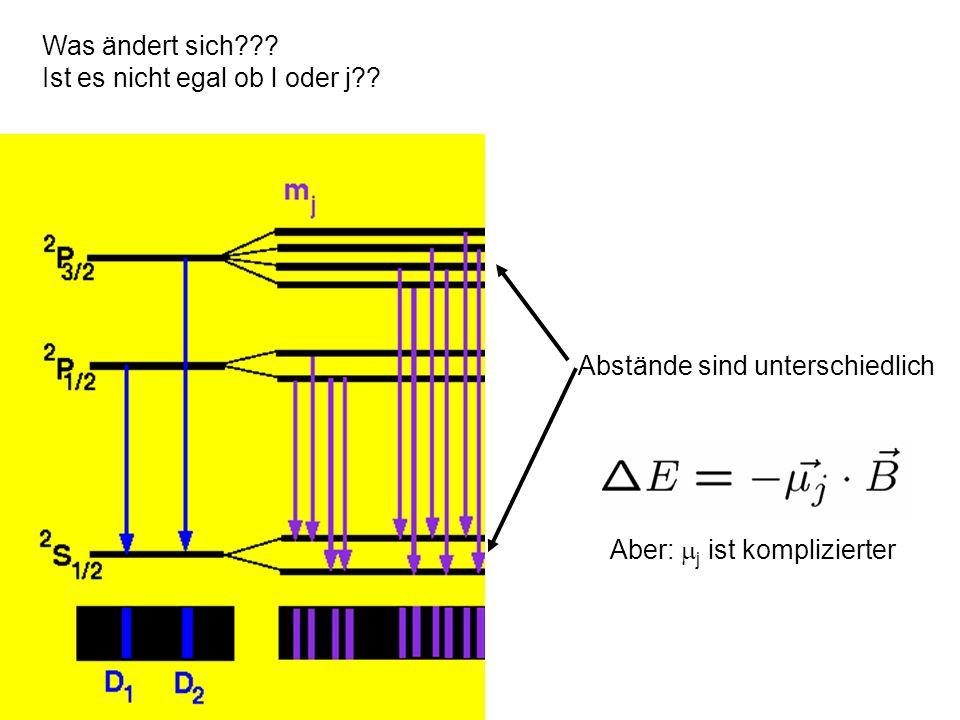 l und l antiparallel und proportional l g j hängt von der Zusammensetzung in l, s ab j l s l s j