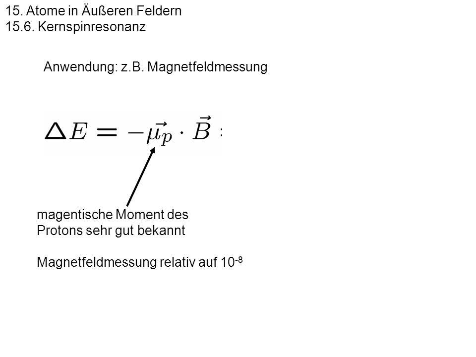 15.Atome in Äußeren Feldern 15.6.
