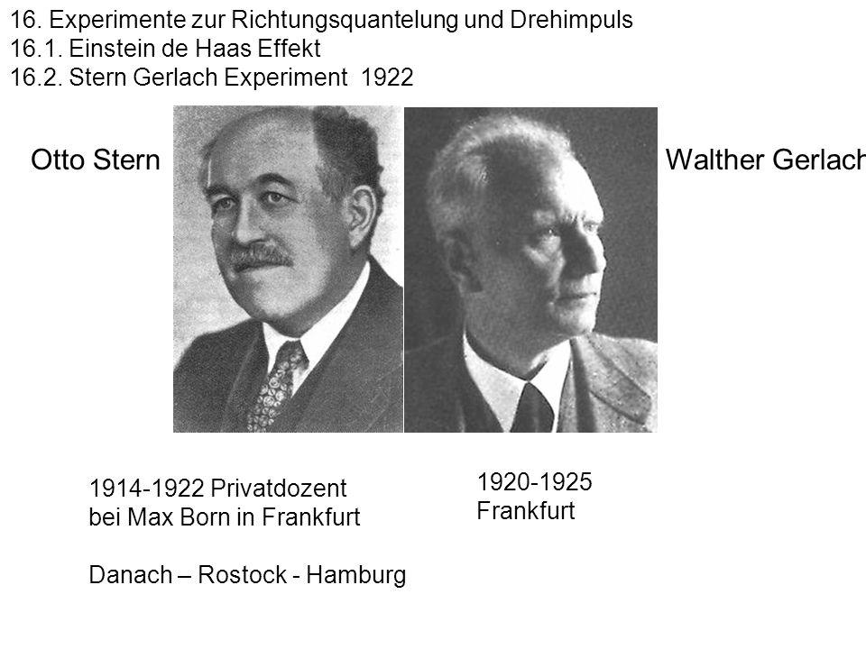 Bohr hat doch recht! Telegramm Gerlach (Frankfurt) an Stern (Rostock) Feb 1922