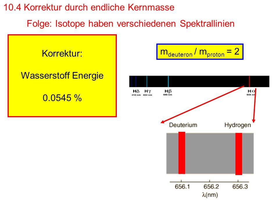 10.5. Myonische Atome Elektronenmasse! eson m m e