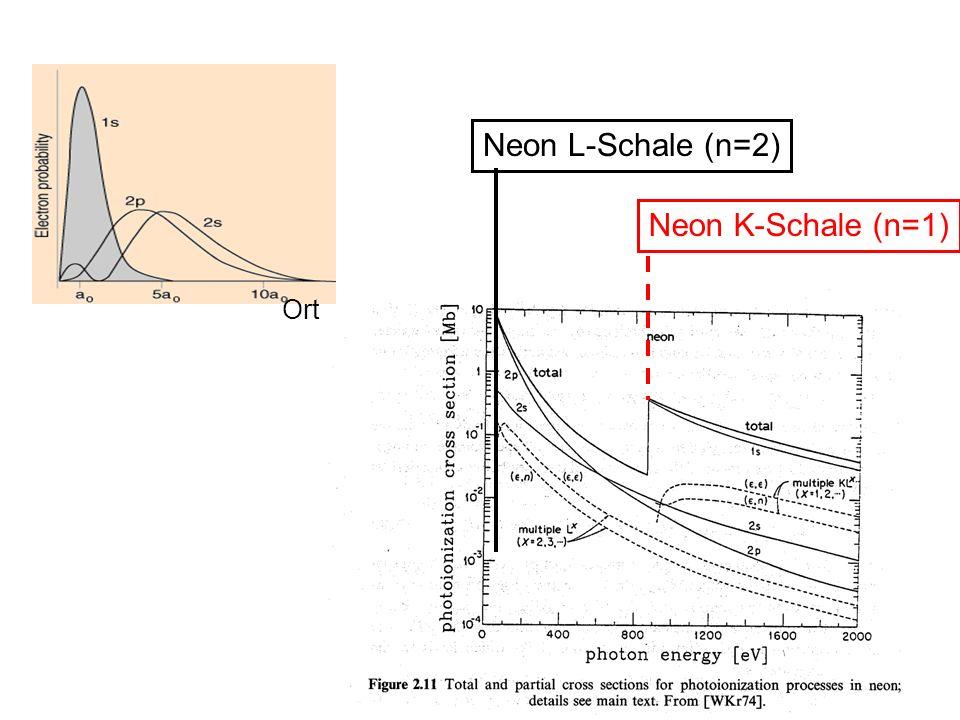 Neon L-Schale (n=2) Neon K-Schale (n=1) Ort