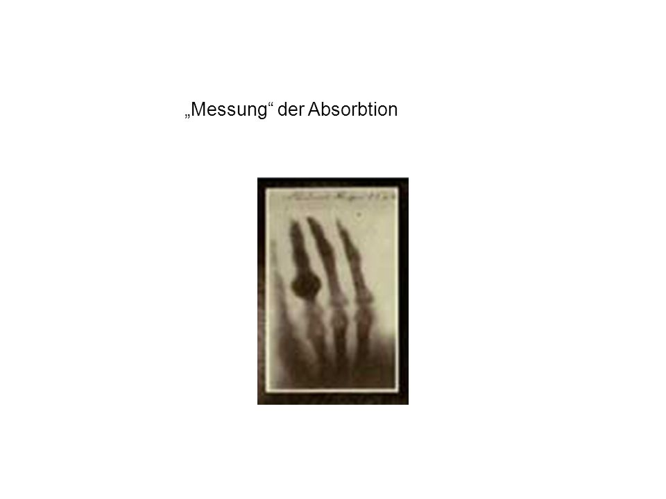 Messung der Absorbtion