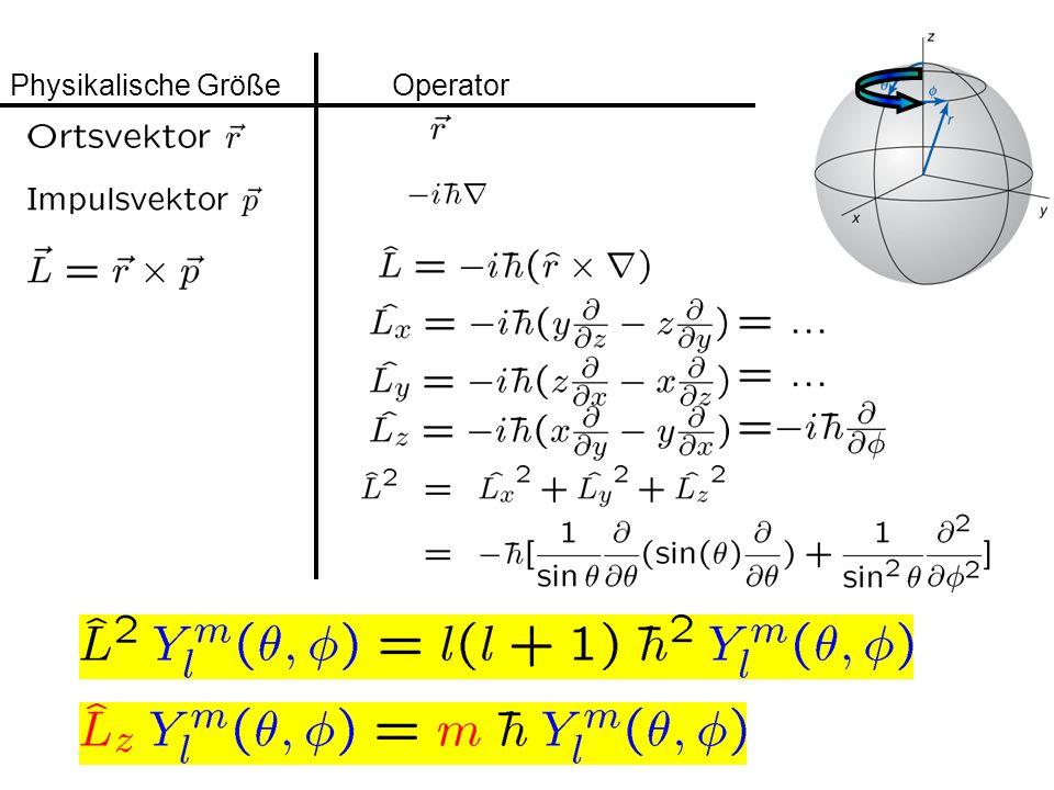 Physikalische Größe Operator